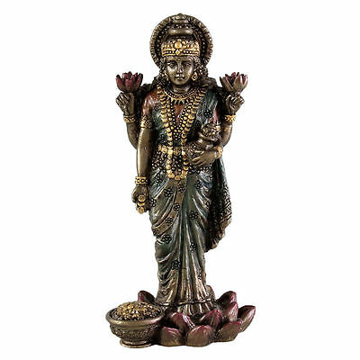 Lakshmi Statue Hindu Goddess Prosperity Laxshmi Laxmi Miniature Figure  3301