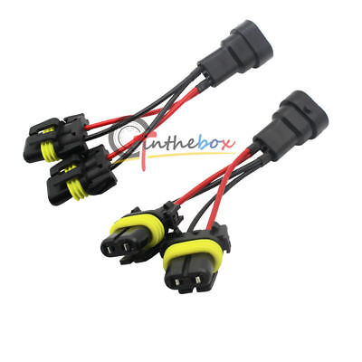 2X 9005 9006 Splitter Wires for Quad/Dual Projector High Beam Headlight Retrofit