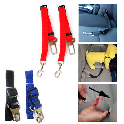 2 Pet Seat Belt Dog Safety Adjustable Clip Car Auto Travel Vehicle Safe Puppy, used for sale  Shipping to South Africa