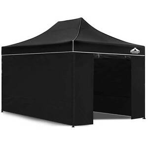 3x4.5 Pop Up Gazebo Hut with Sandbags Black Sydney City Inner Sydney Preview