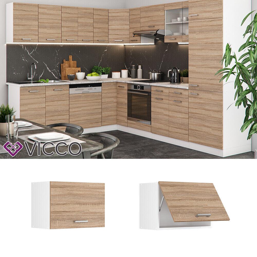 VICCO Küchenschrank Hängeschrank Unterschrank Küchenzeile R-Line Hängeschrank 60 cm (flach) sonoma