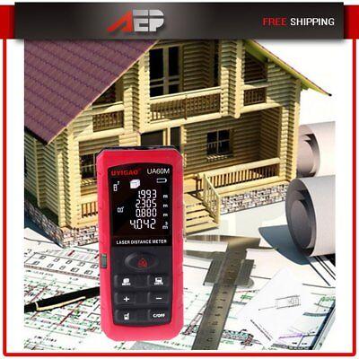 60m Red Laser Distance Meter Digital Level Range Finder Area Volume For Ut395a