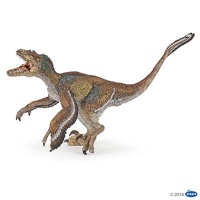 Velociraptor mit Federn 18 cm Dinosaurier Papo 55055                NEUHEIT 2016