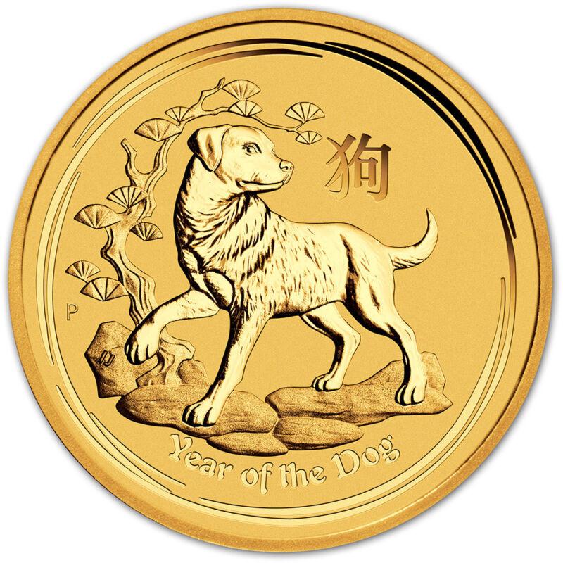 2018 P Australia Gold Lunar Year Of The Dog (1/4 Oz) $25 - Bu