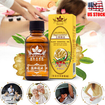 100% PURE Plant Therapy Lymphatic Drainage Ginger Oil Massage Essential 30ml