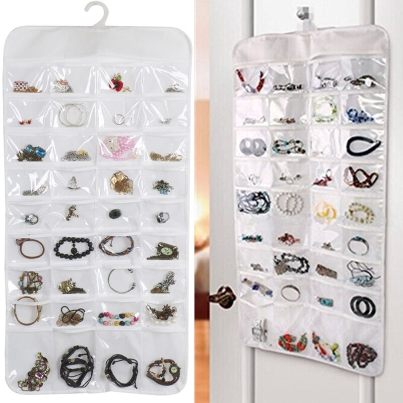 Bracelet Earring Ring necklace 72 Pocket Hanging Jewelry Organizer Pouch Holder