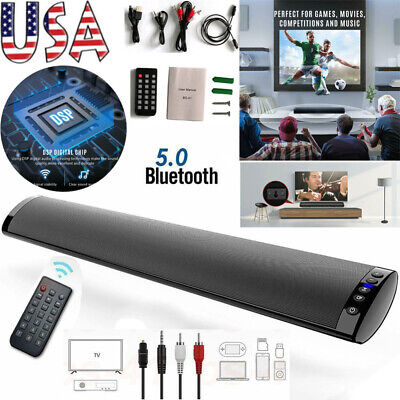 Bluetooth 5.0 Wireless Speaker TV PC Soundbar Subwoofer Home Theater Sound Bar