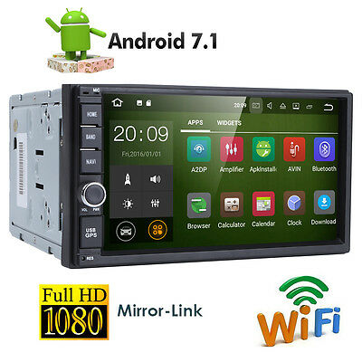 "Quad Core Android 7.1 4G WIFI 7"" Double 2DIN Car Radio Stereo DAB+ OBD2 GPS Navi"