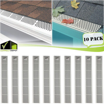 PACK of SNAP-IN White GUTTER GUARD COVER Screen Leaf Debris Protection 3Ft