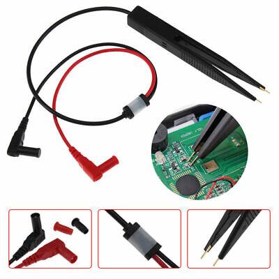 SMD Inductor Test Pinza Sonda Pinzas para Resistencia Multimetro Condensador