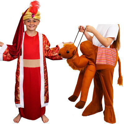 CHILDS KIDS NATIVITY KING RIDE ON CAMEL COSTUME WISE MAN FANCY DRESS BALTHAZAR (Childs Camel Costume)
