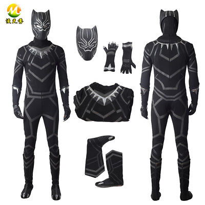 Black Panther Jumpsuit Halloween costumes for adult men Black Panther bodysuit - Halloween Costumes For Black Man