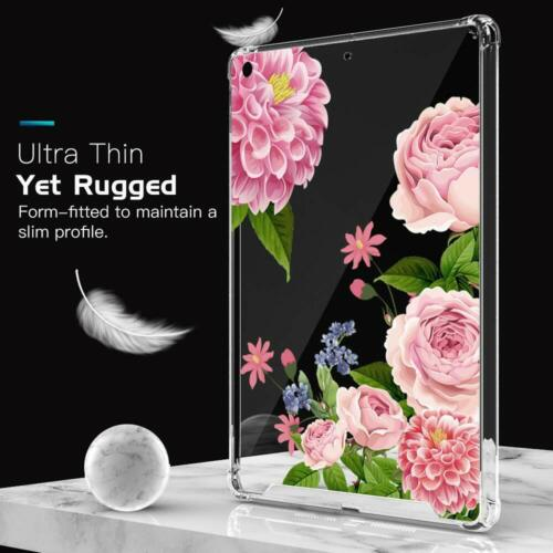 Floral Printed Hard PC Clear Case W/ Soft TPU Bumper For iPa