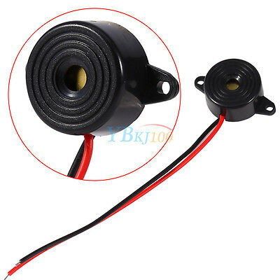 12v Dc Piezo Electronic Tone Buzzer Alarm 95db Continuous Sound Wmounting Hole
