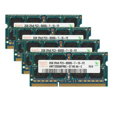 For Hynix 4GB 8GB DDR3 1066MHz PC3-8500S 2RX8 204Pin Laptop Memory RAM