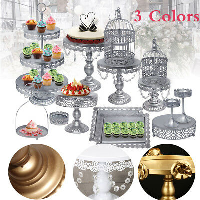 Wedding Plates Party Cake Stands Birthday Holder Cupcake Tower Crystal -