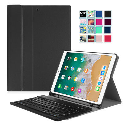 (For iPad Pro 10.5 Keyboard Case Cover with Pencil Holder Bluetooth Keyboard)