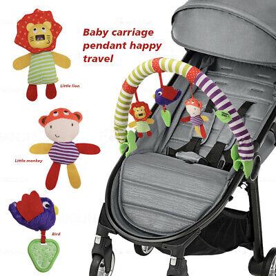 Baby Travel Play Arch Stroller Crib Pram Activity Bar + Rattle Squeak...