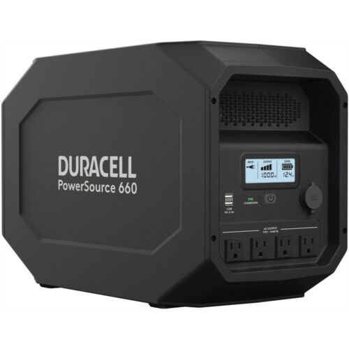 Duracell PowerSource 660, Quiet Portable Power, 12V AGM SLA and Solar Generator