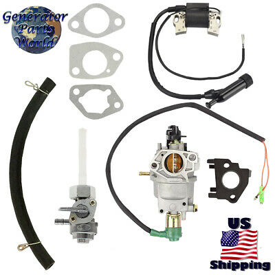 Champion Carburetor W Solenoid Petcock Ign Coil For 100231 Csa40043 6250 8100
