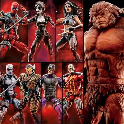 Marvel Legends Deadpool Wave 1 Sasquatch Baf Complete 7 Figures Pre Order