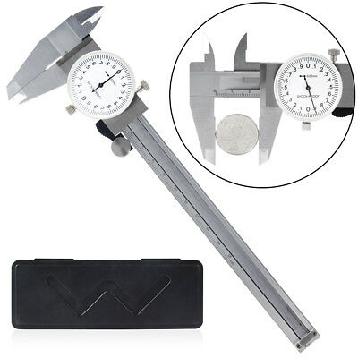 6 Professional Quality Dial Caliper 0.02mm Shock Proof 4-way Measurement Guage