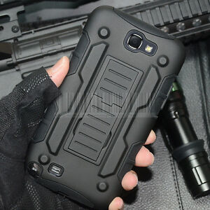 Rugged Armor Impact Kickstand Hard Case Cover For Samsung Galaxy Note II/2 N7100