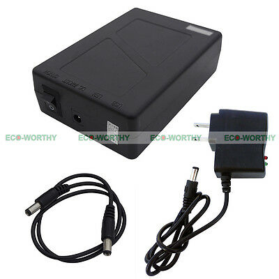 Black 12V 9800mAh Multipurpose Power Rechargeable Li-ion Battery for Camping
