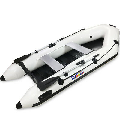 AQUAPARX Schlauchboot 280 Ruderboot weiß Paddelboot Gummiboot Boot Sportboot NEU