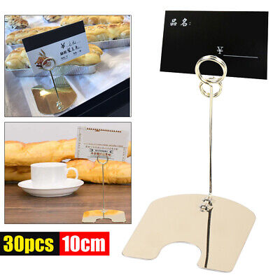30x Stainless Steel Multi-functional Bakery Price Label Sign Card Holder Clip Us