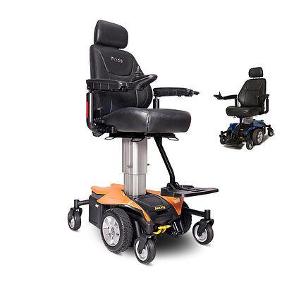 Pride JAZZY AIR Powerchair Elevating Seat Height Electric Wheelchair, Orange