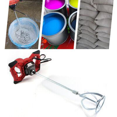 Mezclador de Mortero Industrial 1500W Agitador Eléctrico Pintura Cemento 220V