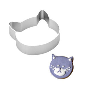 Metal 5.6cm Hello Kitty Style Cat Face Shaped Cookie Pastry Cutter
