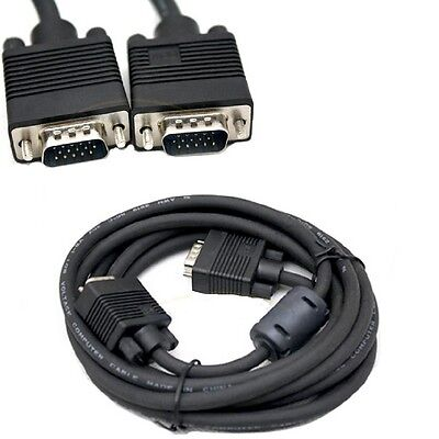 10FT Feet 15 Pin SVGA VGA Monitor Male To Male M/M Cable Cord for PC TV Black Us Computer Cables & Connectors