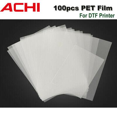 100 Sheets Pet Heat Transfer Film A3 Size Tshirt Transfers Film For Dtf Printer