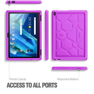 Lenovo Tab 4 10 Plus Tablet Case [Grip&Drop Protection] Silicone Cover Purple for sale  Shipping to India