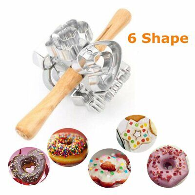 Metal Revolving Donut Cutter Pastry Dough Baking Roller For Cooking Baking
