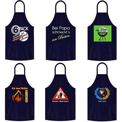 Grillschürzen Kochschürzen Männer Herren Geschenk BBQ Sprüche Partyschürze Blau