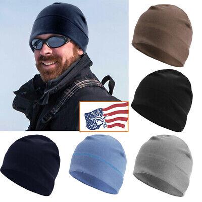 Fleece Winter Warm Watch Cap - Mens - Army Military Tactical Skull Beanie Hat Winter Watch Cap