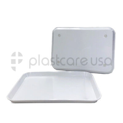 White Dental Autoclave Plastic Instrument Set Up Tray Size B 13 14 X 9 34
