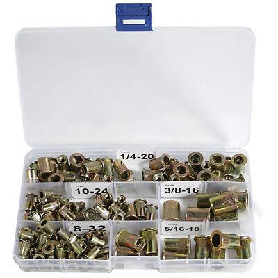 Rivet Nuts Threaded Insert Nutsert 8-32 10-24 14-20 516-18 38-16 Carbon Steel