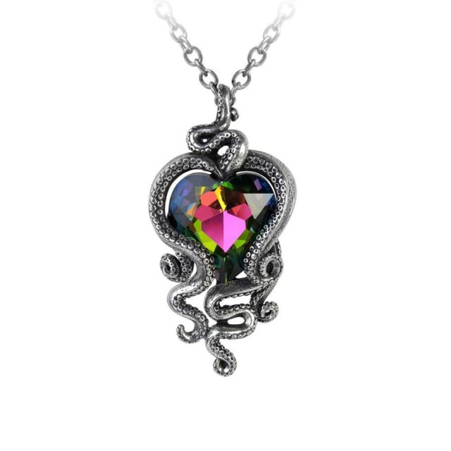 Alchemy Gothic Heart of Cthulhu Pewter Necklace BRAND NEW