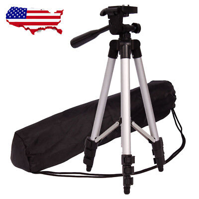 "US Heavy Duty 40"" Aluminum Camera Tripod Stand Holder w/ Level & Case Portable"