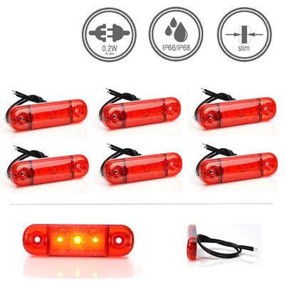 LED-MARTIN® 6er Sparset Umrissleuchte ROT 12V/24V Begrenzungsleuchte Positionsle