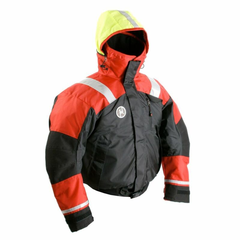 First Watch AB-1100 Flotation Bomber Jacket - Red/Black - Small, AB-1100-RB-S
