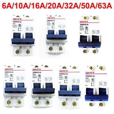 Miniature Circuit Breaker Dc 400v 2p 2 Pole 6ka Pv Solar Energy Air Switch Mcb