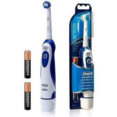 BRAUN ORAL B ADVANCE POWER 400 ELECTRIC TOOTHBRUSH DB4010 2X AA BATTERY POWERED