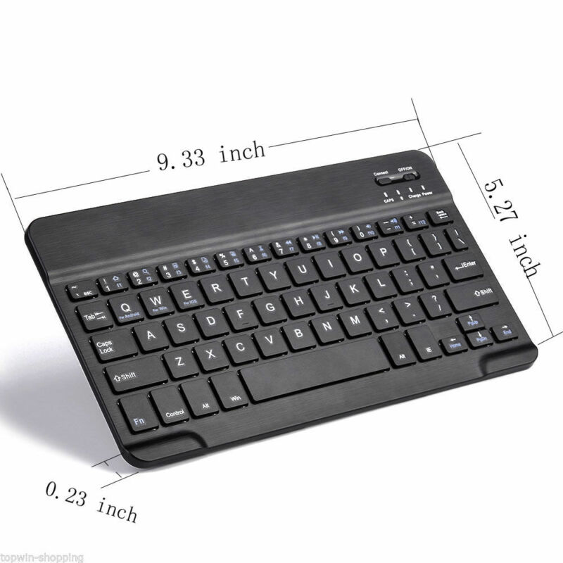 Ultra-thin Black Wireless Bluetooth Keyboard