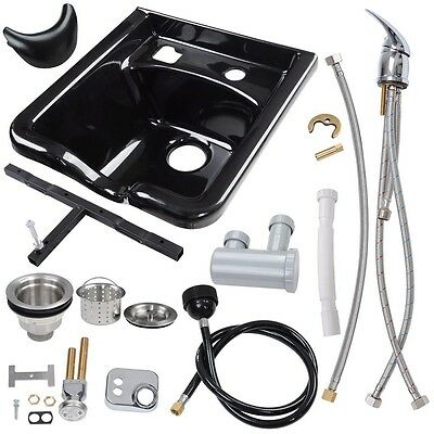 Shampoo Bowl Hair Sink Vacuum Breaker Trap Barber Beauty Salon Spa Equipment