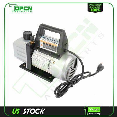 1 Stage 4 Cfm 13 Hp Black Rotary Vane Deep Vacuum Pump Hvac Ac Air Tool Kit